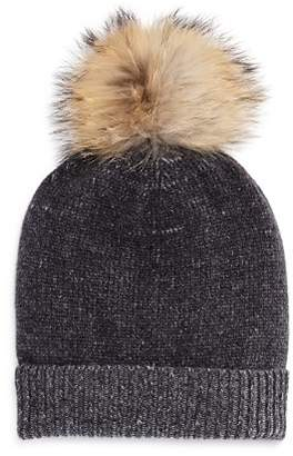 Bloomingdale's The Men's Store at Fur-Trimmed Tweed-Knit Beanie - 100% Exclusive