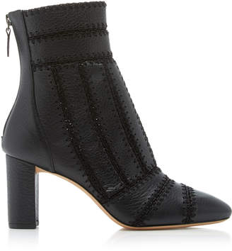 Alexandre Birman Beatrice Crocheted Leather Boot