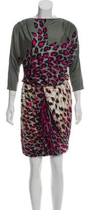 Tibi Leopard Print Mini Dress w/ Tags