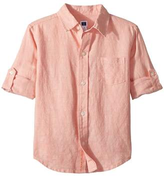 Janie and Jack Roll Sleeve Button-Up Shirt Boy's Long Sleeve Button Up