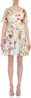 Blugirl Floral Tiered Shift Dress