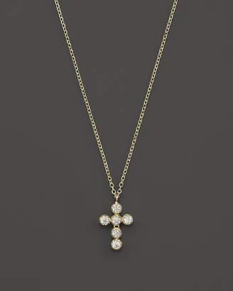 KC Designs Diamond Cross Pendant Necklace in 14K Yellow Gold, 16