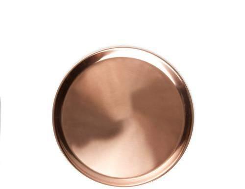 Jansen +co Tablett rund, kupferfarben, klein