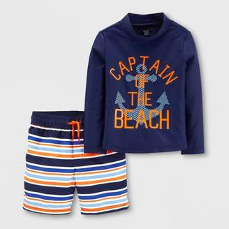 32cb2c7ac2 Carter's Just One You made by carter Toddler Boys' 2pc Captain Rash Guard  Set -