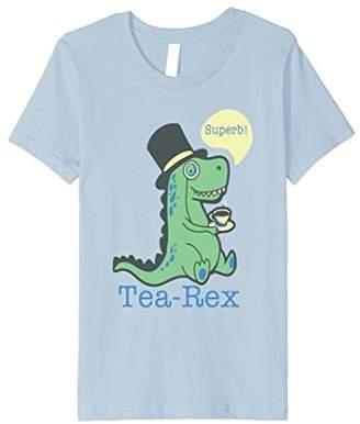 Superb Tea Rex funny gift dinosaur dino t-shirt