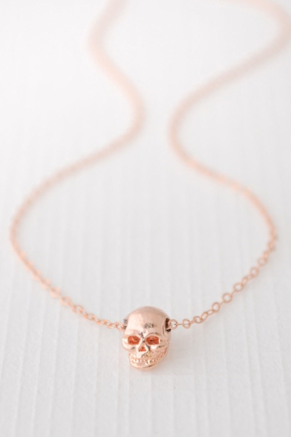 Olive Yew! Skull Necklace