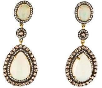 Amrapali 18K Opal & Diamond Drop Earrings