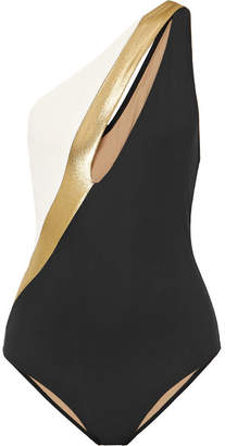Calypso Zeus+Dione ZeusDione One-shoulder Cutout Swimsuit - Black