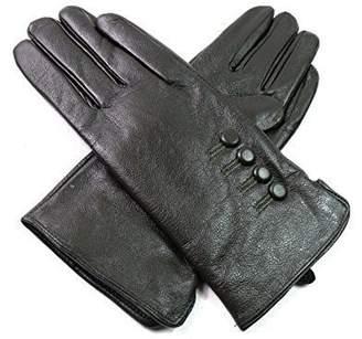 EMPORIUM LEATHER The Leather Emporium Women's Gloves Fur Lined Winter Warm