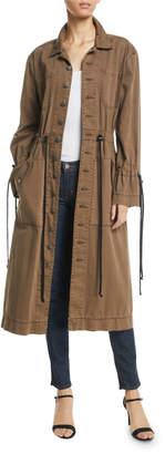 Cinq à Sept Sophie Button-Front Long Jacket