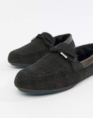 Ted Baker Pytre moccasin slippers in check