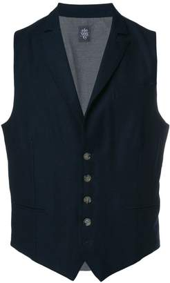 Eleventy two-tone buttoned waistcoat