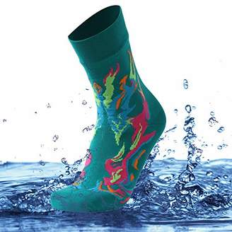SuMade Unisex Waterproof Sports Dry Fit Golf Biking Socks Back to School Gift 1 Pair (Green