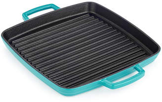 """Martha Stewart Collection 11"""" Enameled Cast Iron Grill Pan"""