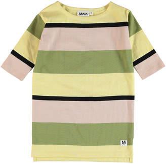 Molo Colore Multi-Stripe Shirt Dress Size 7-16