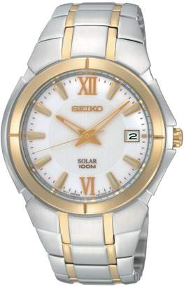 Seiko Men's SNE088 Two Tone Stainless Steel Analog with Dial Watch
