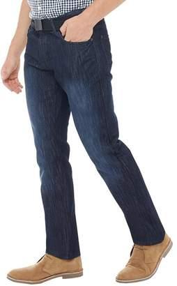 81d55ff7 Kangaroo Poo Mens Straight Fit Denim Jeans With Belt Dark Wash