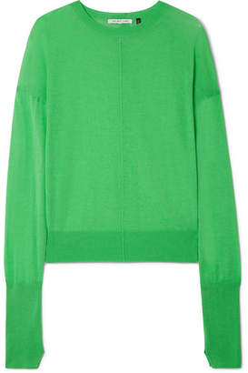 Helmut Lang Cotton And Cashmere-blend Sweater - Green