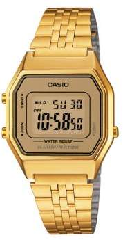 Casio Goldtone Vintage Digital Bracelet Watch
