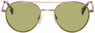 Raen Gold and Green Aliso Sunglasses