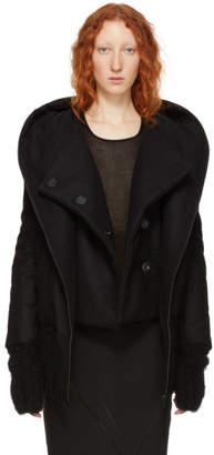 Ann Demeulemeester Black Wool Bomber Jacket