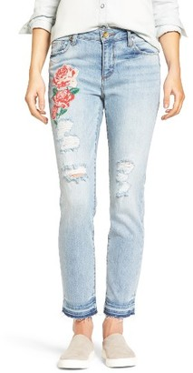 Women's Kut From The Kloth Embroidered Straight Leg Jeans $89 thestylecure.com