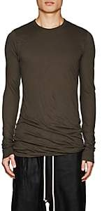 Rick Owens Men's Double-Layer Cotton Long-Sleeve T-Shirt - Gray