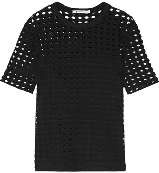 T by Alexander Wang - Cutout Stretch-jersey Top - Black