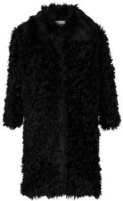 L'Autre Chose curly design oversized coat