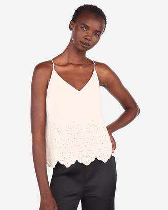 Express Embroidered Eyelet Downtown Cami