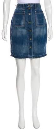 Rag & Bone Denim Knee-Length Skirt