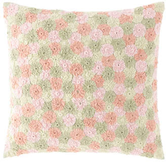 "Pine Cone Hill Arielle Embroidered Decorative Pillow, 20""Sq."