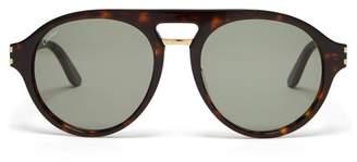 Cartier Eyewear - D Frame Acetate Sunglasses - Mens - Brown