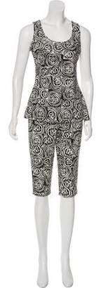 OMO Norma Kamali Printed Pants Set