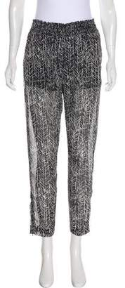 Enza Costa Mid-Rise Straight-Leg Pants