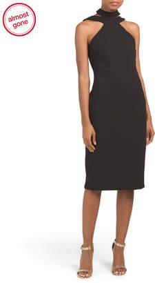 Made In Usa Double Strap Halter Midi Dress