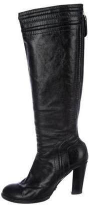 Chloé Leather High Heel Boots
