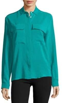 MSGM Silk Button Down Shirt