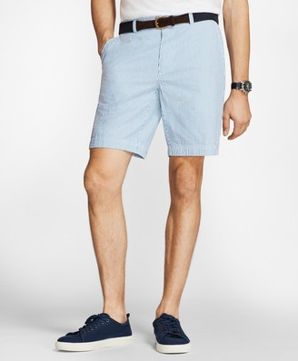Brooks Brothers Striped Cotton Seersucker Shorts