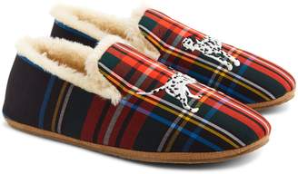 J.Crew Dog Embroidered Faux Shearling Loafer Slipper