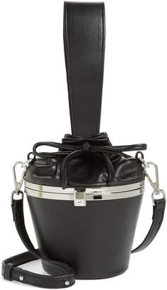 Topshop Aly Faux Leather Bucket Bag