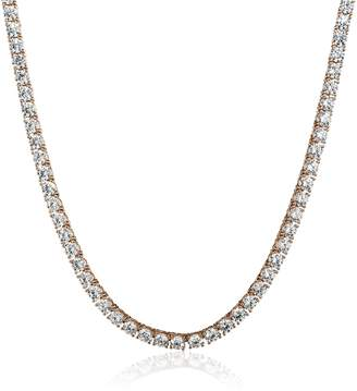Swarovski Amazon Collection Sterling Silver 4mm Zirconia Tennis Necklace, 17""