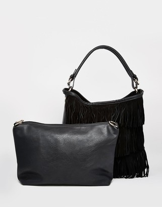 Oasis 2 in 1 Fringed Hobo Bag $77 thestylecure.com