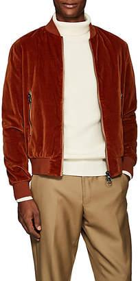 Barena Venezia Men's Velvet Bomber Jacket - Orange