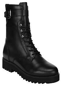 Franco Sarto Leather Combat Booties - Canon