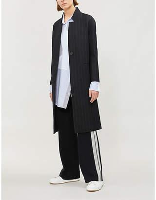Maje Pinstriped wool-blend coat