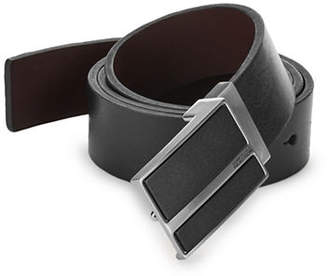 Kenneth Cole Reaction Reversible Plaque Leather Belt