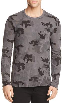 ATM Anthony Thomas Melillo Destroyed Wash Camouflage Long Sleeve Tee - 100% Exclusive
