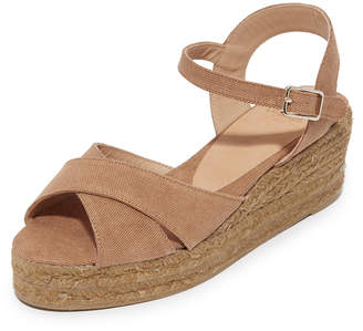Castaner Washed Canvas Crisscross Wedge Espadrilles $160 thestylecure.com