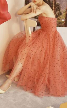 Carolina Herrera Strapless Tulle A-Line Dress